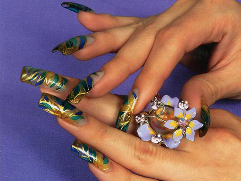 Акриловый дизайн ногтей москва