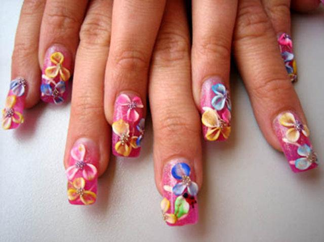 Наращивание ногтей акрилом Москва, дизайн ногтей акрилом